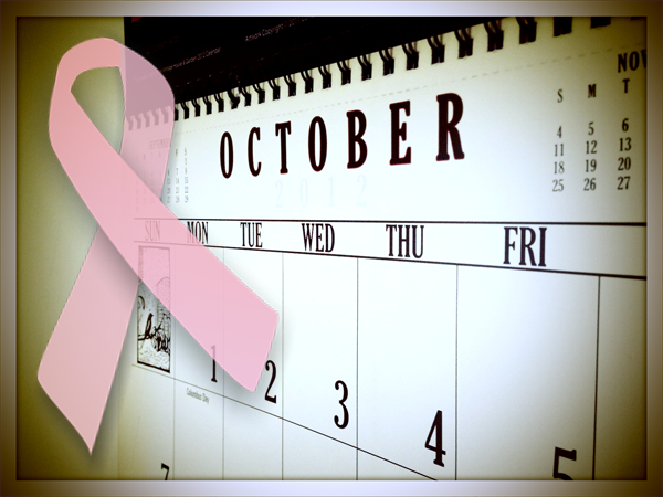 october breast cancer awareness calendar