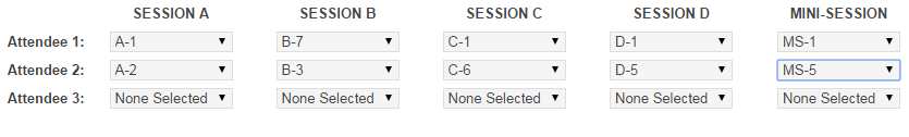 SessionSelection